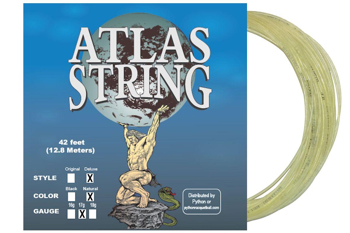Python atlas deluxe 17g natural string python racquetball for Atlas natura